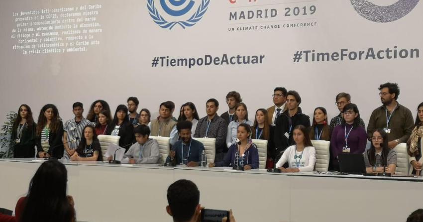 En la Conferencia sobre el clima, el mensaje de los jóvenes